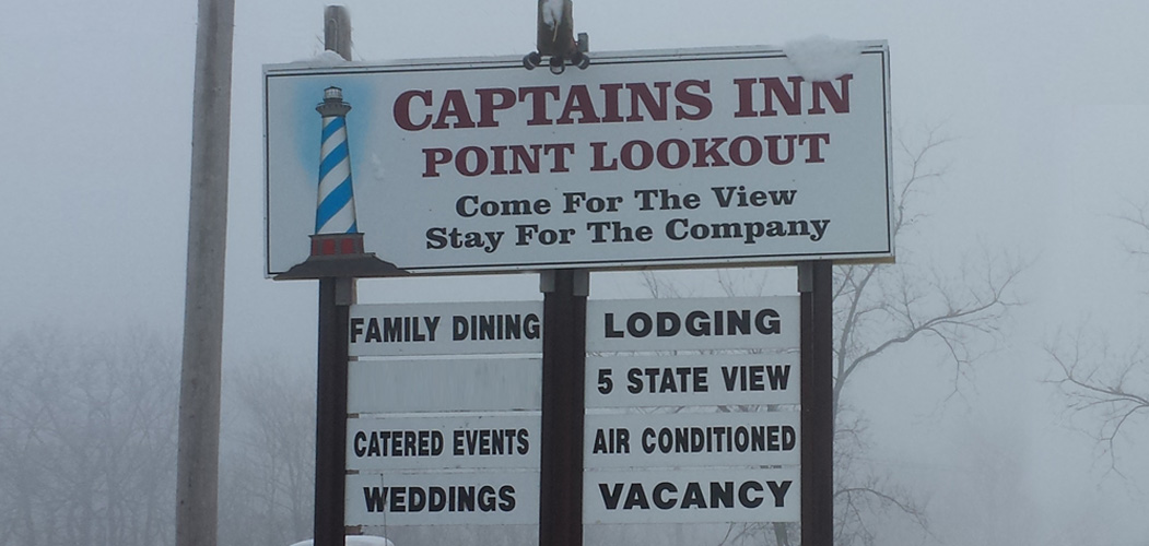 Come for the view, stay for the company at Captain's Inn Point Lookout